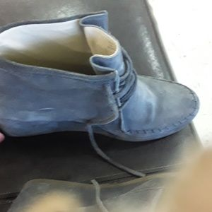 Boden gray leather suede size 11 ankle boots